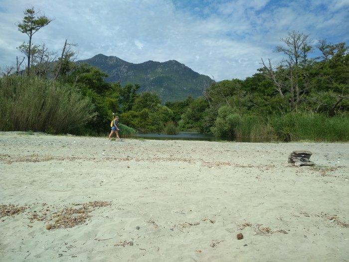 Levé du trait de côte haut (pied de dune)